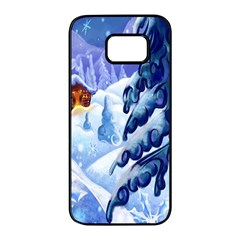 Christmas Wooden Snow Samsung Galaxy S7 Edge Black Seamless Case by Alisyart