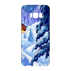 Christmas Wooden Snow Samsung Galaxy S8 Hardshell Case  by Alisyart
