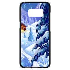 Christmas Wooden Snow Samsung Galaxy S8 Black Seamless Case by Alisyart