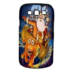 Deer Santa Claus Flying Trees Moon Night Christmas Samsung Galaxy S Iii Classic Hardshell Case (pc+silicone)