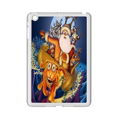 Deer Santa Claus Flying Trees Moon Night Christmas Ipad Mini 2 Enamel Coated Cases