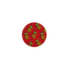 Fruit Pineapple Red Yellow Green 1  Mini Magnets