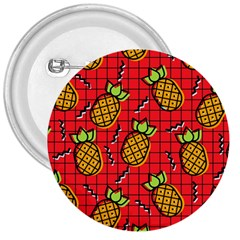 Fruit Pineapple Red Yellow Green 3  Buttons