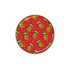 Fruit Pineapple Red Yellow Green Hat Clip Ball Marker (4 Pack)