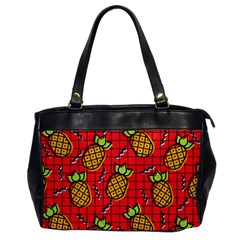 Fruit Pineapple Red Yellow Green Office Handbags by Alisyart