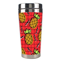Fruit Pineapple Red Yellow Green Stainless Steel Travel Tumblers by Alisyart