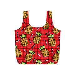 Fruit Pineapple Red Yellow Green Full Print Recycle Bags (s)  by Alisyart