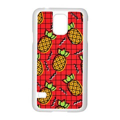 Fruit Pineapple Red Yellow Green Samsung Galaxy S5 Case (white)