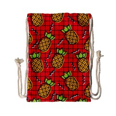 Fruit Pineapple Red Yellow Green Drawstring Bag (small) by Alisyart