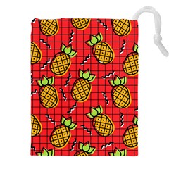 Fruit Pineapple Red Yellow Green Drawstring Pouches (xxl) by Alisyart