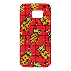 Fruit Pineapple Red Yellow Green Samsung Galaxy S7 Edge Hardshell Case by Alisyart