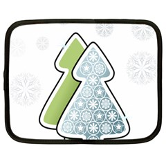 Tree Spruce Xmasts Cool Snow Netbook Case (xl)