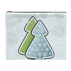 Tree Spruce Xmasts Cool Snow Cosmetic Bag (xl) by Alisyart