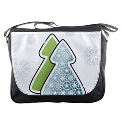 Tree Spruce Xmasts Cool Snow Messenger Bags