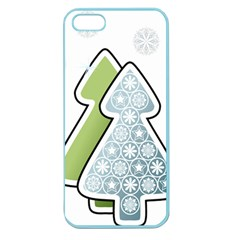 Tree Spruce Xmasts Cool Snow Apple Seamless Iphone 5 Case (color)
