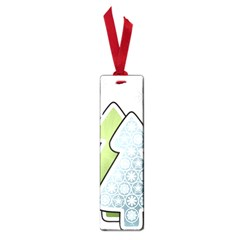 Tree Spruce Xmasts Cool Snow Small Book Marks by Alisyart