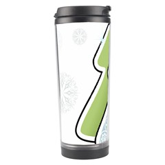 Tree Spruce Xmasts Cool Snow Travel Tumbler by Alisyart