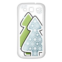 Tree Spruce Xmasts Cool Snow Samsung Galaxy S3 Back Case (white)