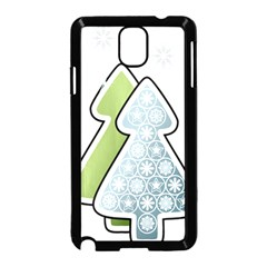 Tree Spruce Xmasts Cool Snow Samsung Galaxy Note 3 Neo Hardshell Case (black)