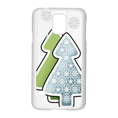 Tree Spruce Xmasts Cool Snow Samsung Galaxy S5 Case (white)
