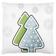 Tree Spruce Xmasts Cool Snow Standard Flano Cushion Case (two Sides)