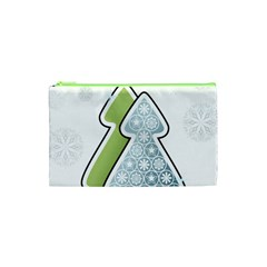 Tree Spruce Xmasts Cool Snow Cosmetic Bag (xs) by Alisyart
