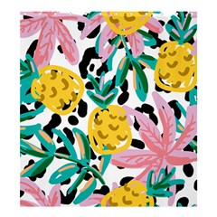 Fruit Pattern Pineapple Leaf Shower Curtain 66  X 72  (large)