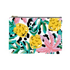 Fruit Pattern Pineapple Leaf Cosmetic Bag (large)