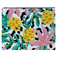 Fruit Pattern Pineapple Leaf Cosmetic Bag (xxxl)