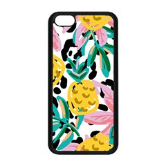 Fruit Pattern Pineapple Leaf Apple Iphone 5c Seamless Case (black) by Alisyart