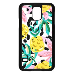 Fruit Pattern Pineapple Leaf Samsung Galaxy S5 Case (black)