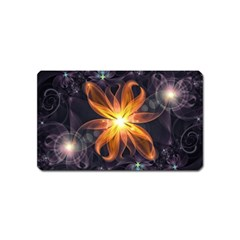 Beautiful Orange Star Lily Fractal Flower At Night Magnet (name Card) by jayaprime