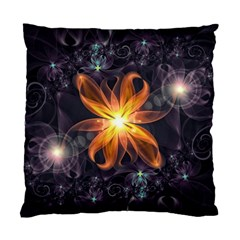 Beautiful Orange Star Lily Fractal Flower At Night Standard Cushion Case (two Sides) by jayaprime
