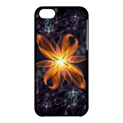 Beautiful Orange Star Lily Fractal Flower At Night Apple Iphone 5c Hardshell Case by jayaprime