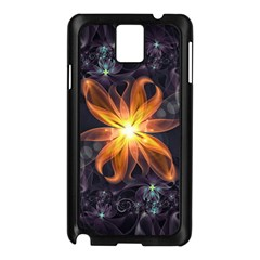 Beautiful Orange Star Lily Fractal Flower At Night Samsung Galaxy Note 3 N9005 Case (black) by jayaprime