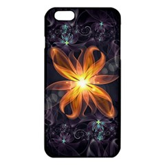 Beautiful Orange Star Lily Fractal Flower At Night Iphone 6 Plus/6s Plus Tpu Case by jayaprime