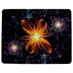 Beautiful Orange Star Lily Fractal Flower At Night Jigsaw Puzzle Photo Stand (rectangular) by jayaprime