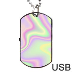 Holographic Design Dog Tag Usb Flash (one Side) by tarastyle
