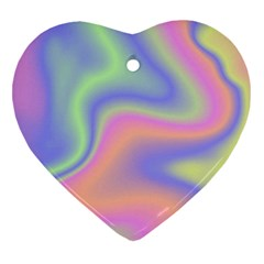 Holographic Design Heart Ornament (two Sides)