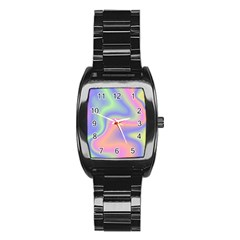Holographic Design Stainless Steel Barrel Watch by tarastyle