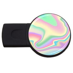 Holographic Design Usb Flash Drive Round (4 Gb) by tarastyle