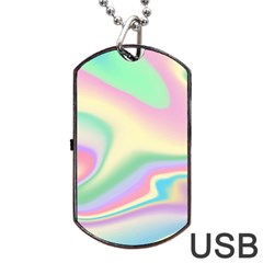 Holographic Design Dog Tag Usb Flash (two Sides)