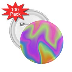 Holographic Design 2 25  Buttons (100 Pack)  by tarastyle