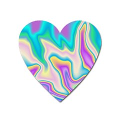 Holographic Design Heart Magnet