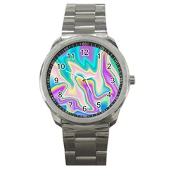 Holographic Design Sport Metal Watch