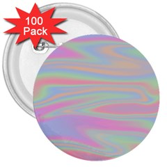 Holographic Design 3  Buttons (100 Pack)  by tarastyle