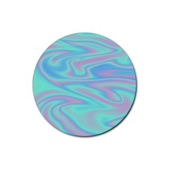 Holographic Design Rubber Coaster (round)  by tarastyle