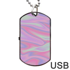 Holographic Design Dog Tag Usb Flash (two Sides) by tarastyle