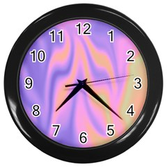 Holographic Design Wall Clocks (black) by tarastyle