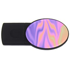 Holographic Design Usb Flash Drive Oval (4 Gb)